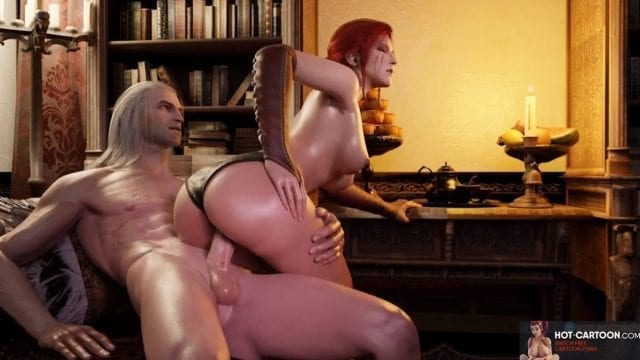 Witcher 3 Triss porn satisfied by hardcore sex